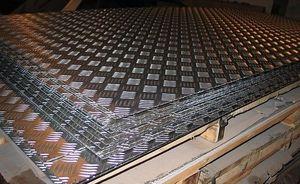 Лист алюминиевый рифленый 4х1200х3000мм (Диамант) ТУ 1-801--432-2006