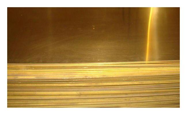 Лист латунный 5х600х1500мм ЛС59-1